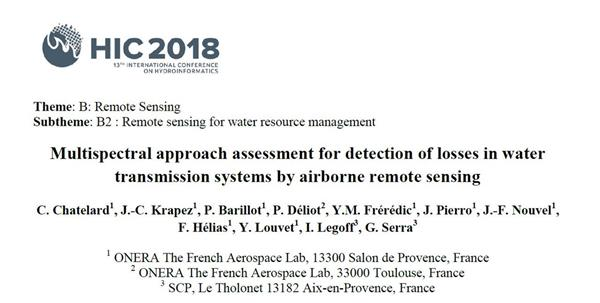 Multispectral approach assessment for detection of losses in water transmission systems by airborne remote sensing